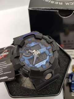 *ORIGINAL* Casio G-Shock Watch GA710-1A2 (Black/Metallic Blue)