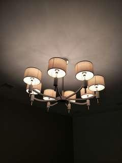 Ceiling Light in Korean Style Fabric Shade