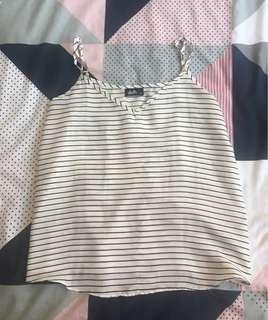 Striped singlet top