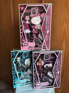 Wave 1 Monster High doll set of 3