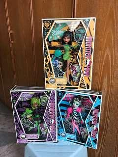 Monster High Dawn of The Dance dolls set of 3