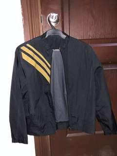 Vintage Three Stripe Crew Neck Motorcycle Jacket