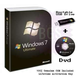Microsoft Windows 7 Ultimate (OEM) + Already Activated