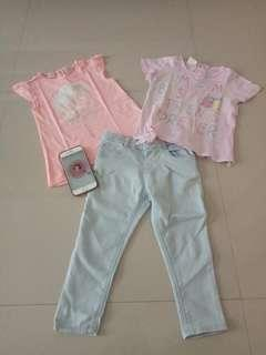 Zara baby jeans and tshirt