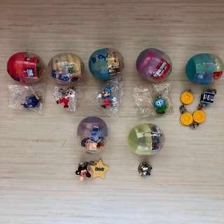 Mario Kirby gachapon figurines collectible gashapon Japan anime manga super