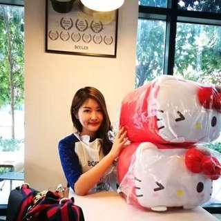"""[Limited Edition 250pcs worldwide] Authentic Sanrio 12""""/ 50cm Huge Hello Kitty Cubic Cute Plush"""