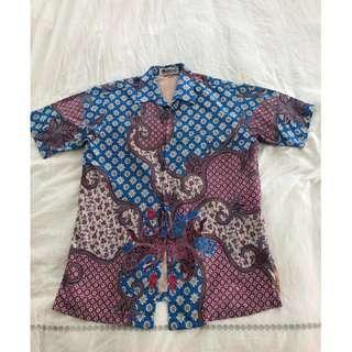 Batik Keris Shirts - Blue 15 1/2 - Nice Condition