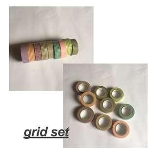 grid washi tape grabbag