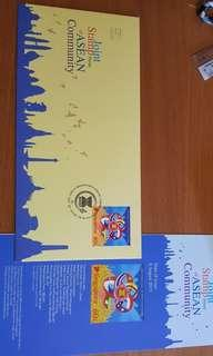 Joint stamp issue of ASEAN first day cover
