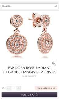 Pandora Rose Radiant Elegance Hanging Earrings