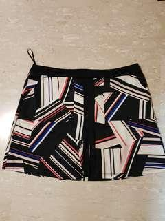 Plus size abstract skirt