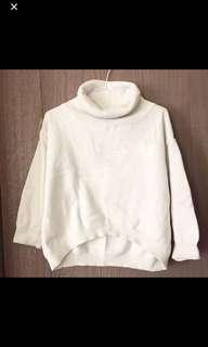 🚚 白色高領毛衣 #十二月女裝半價