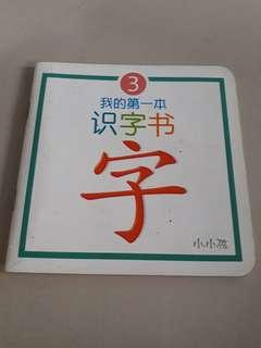 Basic Chinese word picture book for 3 yo and above