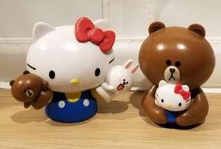 Line Friends x Hello Kitty 手指玩偶/擺設