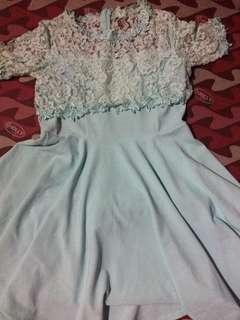 Mint Green Lacey Dress