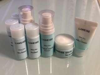 Laneige White Dew Samples