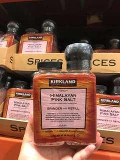 ☆現貨☆美國進口Kirkland喜馬拉雅山粉紅鹽(連研磨器)+補充裝