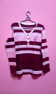 Sweater kaos pink lucu