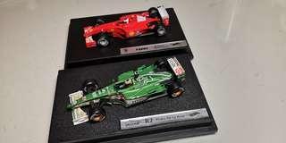 F1 Ferrari and Jaguar 模型 1:43