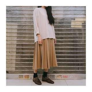 made in korea 黑色百摺半裙
