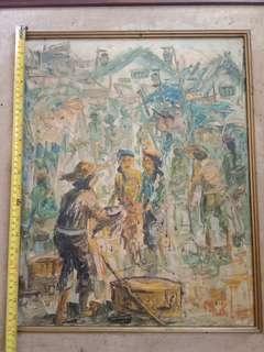 Lukisan karya MUKLIS 40x50cm.