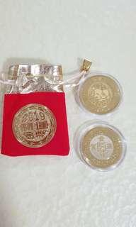 2019 Year of Pig Gold Coin Chinese New Year