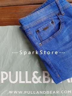 Pull&Bear Celana Jeans Biru Premium Skinny Fit