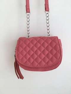 TARGET mini sling bags with tassle pink or black