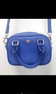 🚚 🌸林依晨代言🌸全新皮質PIXY藍色側背包