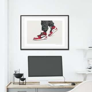 🚚 OFF-WHITE JORDAN 1 CHICAGO ON-FOOT LIMITED EDITION - A3 POSTER