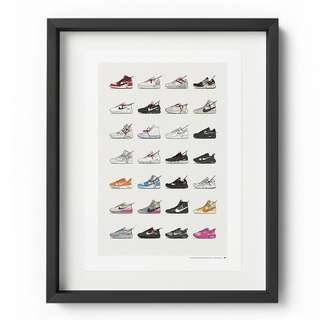 🚚 NIKE X OFF-WHITE COLLECTION - A3 POSTER