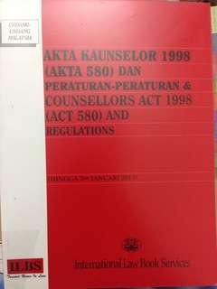 Akta Kaunselor 1998 (Akta 580) (dwibahasa)