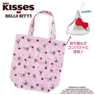 db74cdc73077  PO  Sanrio Japan Hello Kitty x HERSHEY S Kiss Chocolate Eco Bag with Pouch