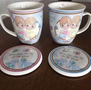 BNIB Precious Moments Couple Mugs