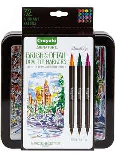 Instock: 32 Colours Crayola Signature Dual Tip Brush and Ultra Fine Tip Markers