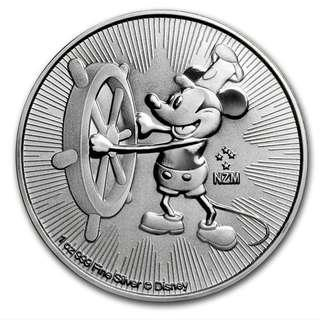 Mickey Mouse 純銀幣 1oz fine Silver