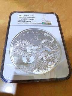 加拿大2012年生肖龍年公斤銀币NGC PF69UC