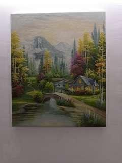 Painting oil painting canvas