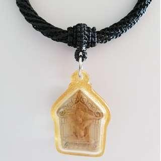 Thai Amulet Accessories: String Art Necklace (Black) / 1 hook