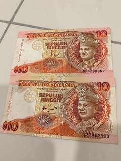 RM10 old notes