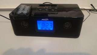 Maxx alarm clock Ipod radio 闹鐘收音机 remote control
