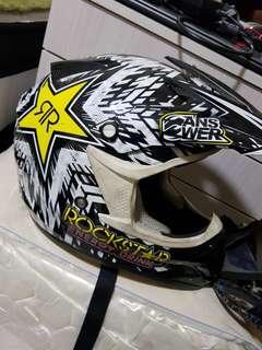 Answer/ rockstar fullface helmet mx