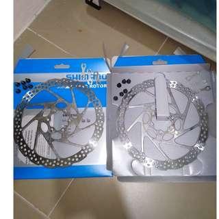 Shimano 180mm 6 bolts rotors with 6 bolts and 3 shims