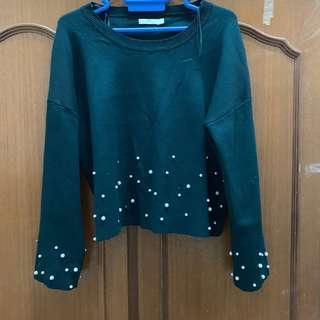 Padini Crop Sweatshirt Pearl
