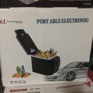 Portable mini car fridge