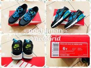全新 女鞋 NIKE air max 90 mesh (gs) 24cm