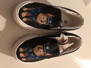 Hand drawn paw petrol shoes