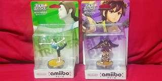Amiibo Wii Fit Trainer and Black Pit