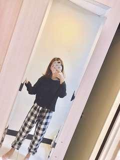 🚚 韓妞必備格紋寬褲 #十二月女裝半價