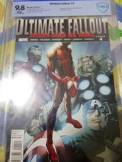 Ultimate fallout 4 cbcs 9.8 1st print 1st app of miles Morales!!